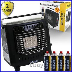 1.2KW Portable Gas Heater Outdoor Camping Safety Grill Carry Handle Butane Fish