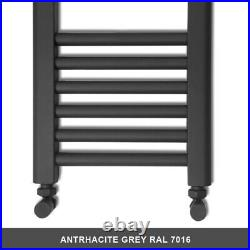 1400mm High Anthracite Grey Bathroom Heated Towel Rail Radiator Designer