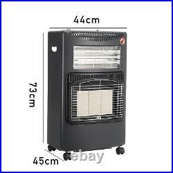 4.2KW Portable Mobile Fire Calor Gas Heater LPG Cabinet Butane with Regulator Hose