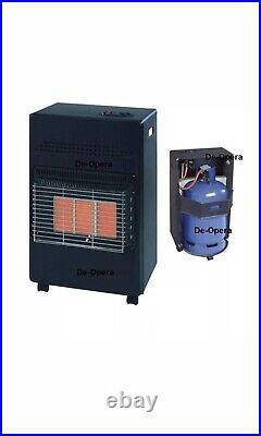 4.2kw Calor Gas Portable Cabinet Heater Fire Butane 3 Heat With Regulator Hose