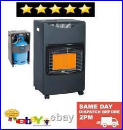 4.2kw Calor Gas Portable Cabinet Heater Fire Butane With Regulator & Hose 7kg
