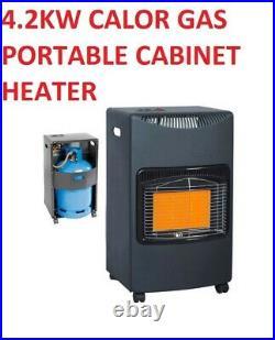 4.2kw Calor Gas Portable Cabinet Heater Fire Butane With Regulator & Hose- New