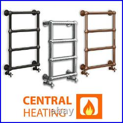 500mm Wide Traditional Heated Towel Rail Bathroom Radiator Charlote Central Heat