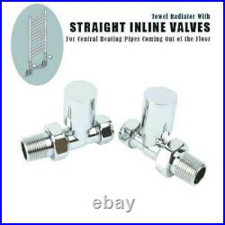 900 mm Wide Flat Chrome Heated Towel Rail Radiator Stylish Bathroom Designer UK