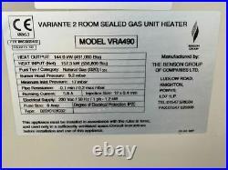 BENSON VARIANTE INDUSTRIAL SPACE HEATER / WARM AIR GAS HEATER 144 Kw
