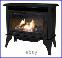 Comfort Glo GSD2846 Montery Gas Stove, Vent-Free, Dual Fuel, Black, 30,000-BTU