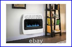 Dyn Glo Wall Heater 30000 BTU Natural Gas Blue Flame Vent Free White BF30NMDG 4