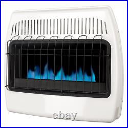 Dyna-Glo Gas Wall Heater 30000 BTU Automatic Shutoff Indoor Surface Mounted