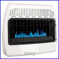 Dyna Glo Wall Heater Blue Flame Vent Free Natural Gas Home Garage 30,000 BTU