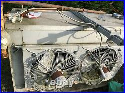 Factory space heater mains gas type. Roof suspended 95KW 240v