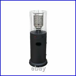 Fiammetta Outdoor Area Gas Heater Matte Black