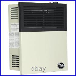 Gas Wall Heater 11000 BTU Automatic Shutoff Vented Convection Piezo Ignition