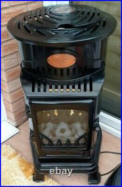 Gloss Black Provence Calor Gas Heater + Full Gas Bottle