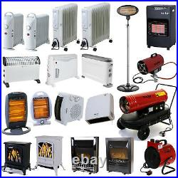 Heaters Electric Oil Filled Radiator Fan Halogen Quartz Gas Convector Thermostat