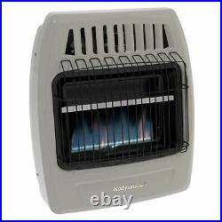 Kozy World KWN253 Wall Heater Natural Gas 20000 BTU Blue Flame 800 Sq Ft Heater