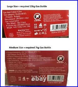 Large / Medium 4.2KW CALOR GAS PORTABLE CABINET HEATER BUTANE REGULATOR