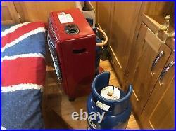 Lifestyle home 3 bar butane gas heater Red fantastic condition 2x butane 6kg