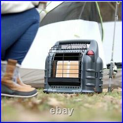 Mr. Heater MH18B 18000 BTU Hunting Big Buddy Portable Propane Gas Heater, Grey