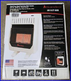 NEW HeartSense IR16T-BB 20,000 BTU Dual Fuel Ventless Heater With Base & Blower