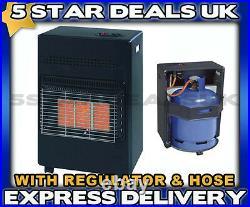 New 4.2kw Calor Portable Cabinet Heater Gas Butane Fire With Regulator & Hose