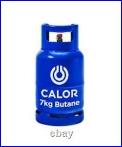 New Black 3 Setting Small Heater & Calor Gas Lpg Full Bottle & Reg Portable Mini