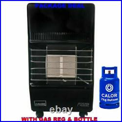 New Complete 2 Setting Calor Gas Full Bottle Small Portable Mobile Mini Heater
