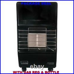 New Complete With Calor Gas Lpg Full Bottle & Reg Portable Mobile Mini Heater