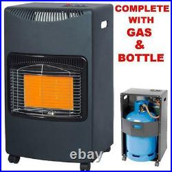 New Lifestyle Black Complete With Calor Gas Bottle & Reg Portable Mobile Heater