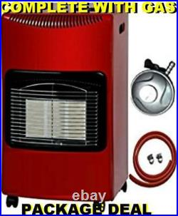 New Matt Red Large Complete With Calor Gas Bottle & Reg Portable Mobile Heater