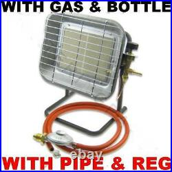 New With Hose Reg & Calor Gas Bottle 4.5 Kw Propane Camping Builders Site Heater