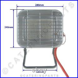 Pair of Portable LPG Propane Gas Space Heater 4.5Kw Market Stall Patio Grage ETC