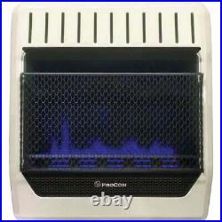 ProCom 20,000 BTU Natural Gas or Propane Gas Vent-Free Blue Flame Wall Heater