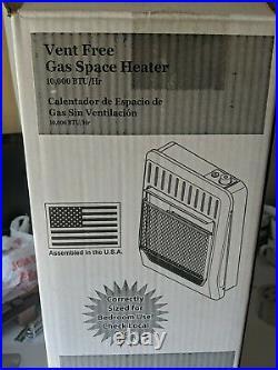 ProCom Ventless Blue Flame Gas Space Heater Dual Fuel 10,000 BTU, Model # MG10HBF