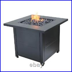 Propane Gas Fire Pit Outdoor Patio Heater Portable Firebowl Space Fireplace 24