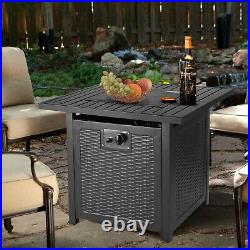 Propane Gas Fire Pit Outdoor Patio Heater Portable Firebowl Space Heat Fireplace