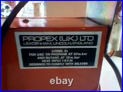 Propex X1 1.6kw Blown Air gas Space Heater for campervan or motorhome. Used