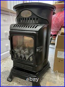 Provence 3000W Flueless Portable Gas Heater / Stove Matt Black