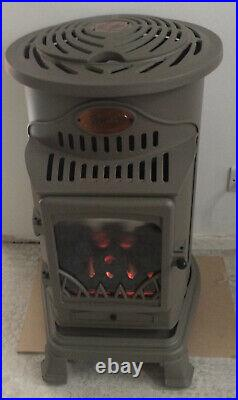 Provence 3400W Portable Gas Heater Honey Glow Brown