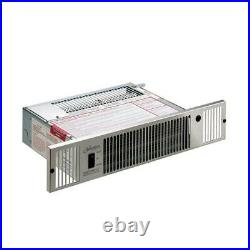 Quiet-One-Hydronic kick Space Heater-7,100 BTU- Stainless Steel- 2 Heat-Recessed