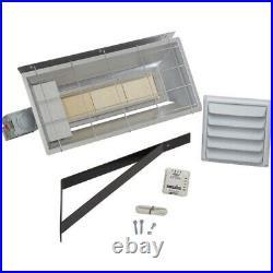 Radiant Natural Gas Heater 25,000 BTU 625 Sq Ft Millivolt Thermostat