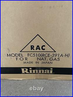 Rinnai FC510N Fan Type Unvented Heater Natural Gas RCE-391A-H S-12