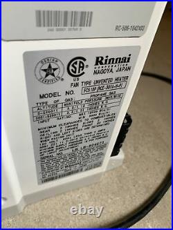 Rinnai FC510P Fan Type Unvented Heater Propane Gas RCE-391A-H-P S-11