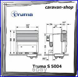 Truma S 5004 Gasheizung für Caravan, Wohnwagen mit Verkleidung pearlgrey / 5002