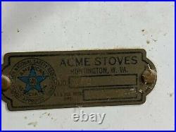 Vintage ACME Stoves Porcelain Enamel Bathroom Gas Heater 15000 BTU free stand