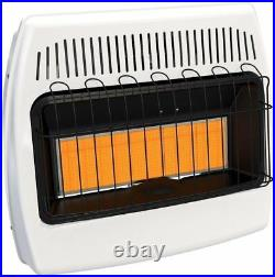 Wall Heater 30,000 BTU Natural Gas Infrared Unvented Radiant Surface Mounted