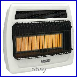 Wall Heater 30,000 BTU Vent Free Infrared Mounted Propane Gas Thermostat Powered