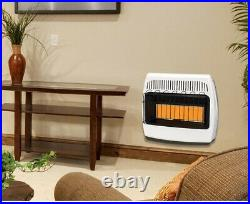 Wall Heater 30,000 BTU Vent Free Infrared Surface Mounted Propane Gas Powered