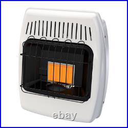 Wall Heater 6000 BTU Vent Free Infrared Indoor Liquid Propane Gas Garage Cabin