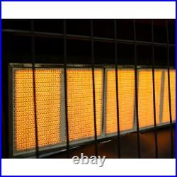 Wall Mount Heater Natural Gas Infrared 30,000 BTU Indoor Home Garage Cabin Safe