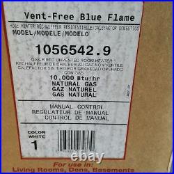 Williams 1056542.9 10,000 Btu/hr Blue Flame Heater Natural Gas Manual Thermostat